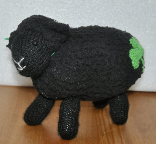 """It's All for Ewe"", Knitted Stuffed Sheep Toy - DSC 0337 1"