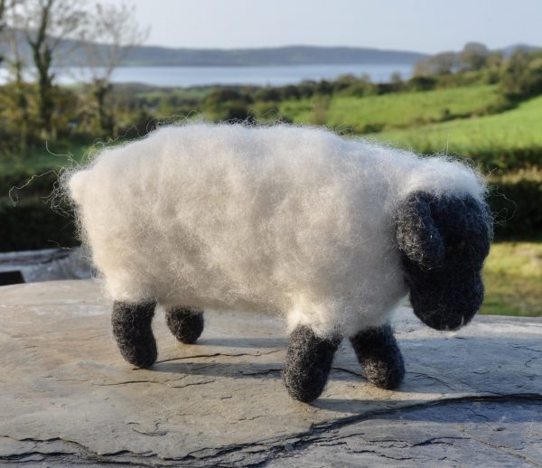 Sheep-ish, Felted Sheep White with Black