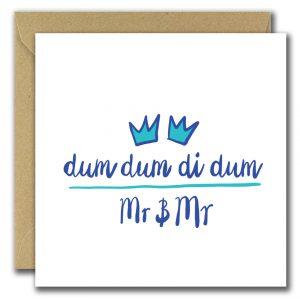 Dum Dum Di Dum wedding card