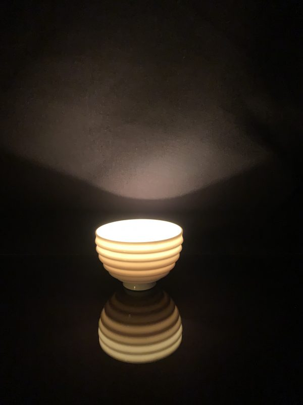 Ridged Porcelain Nightlight Holder