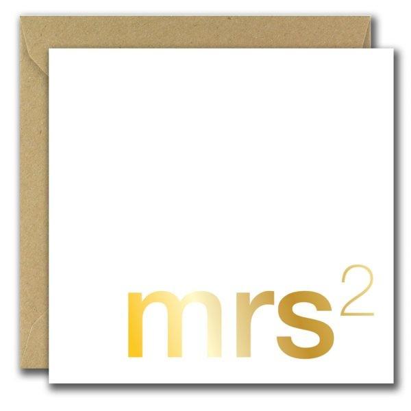 mrs wedding card