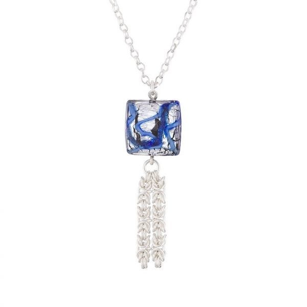 Ocean Two Silver & Murano Glass Necklace