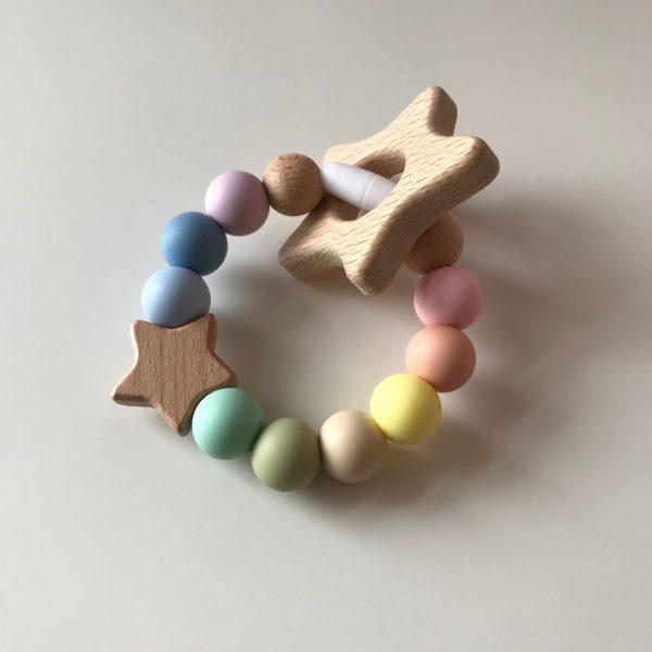 Rainbow Baby Star Teether