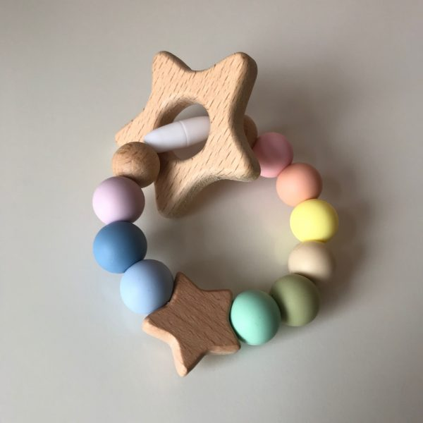 Rainbow Baby Star Teether - Rainbow Star Teether1 rotated