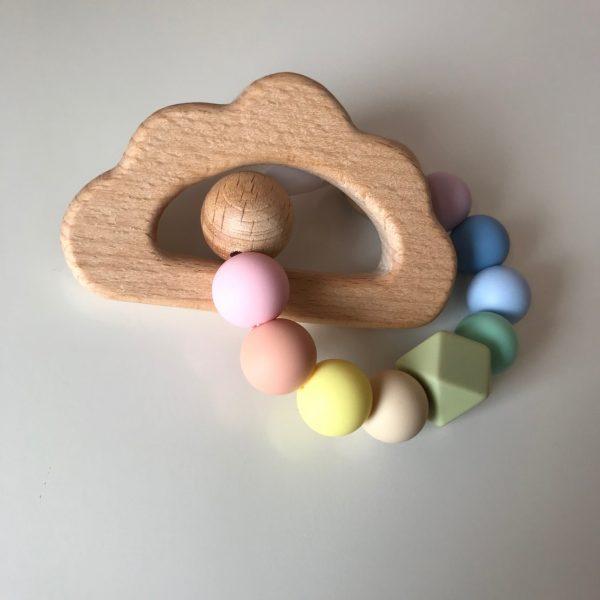 Rainbow Baby Cloud Teether - Rainbow Teether1 rotated