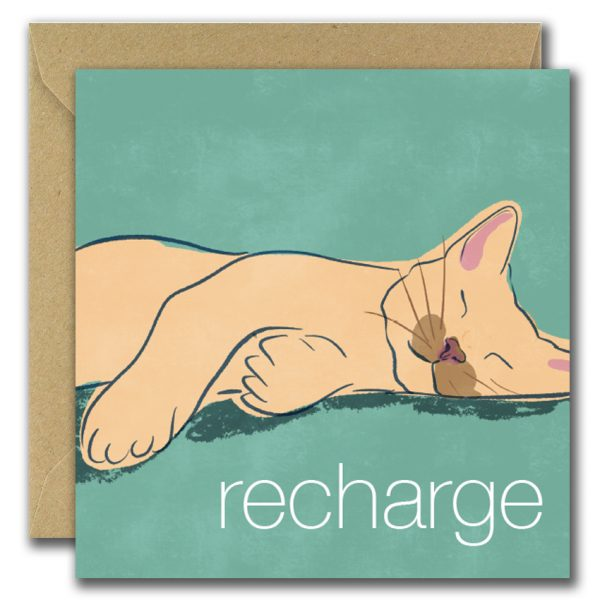 Recharge greeting card
