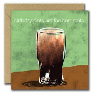 Birthday Pints card