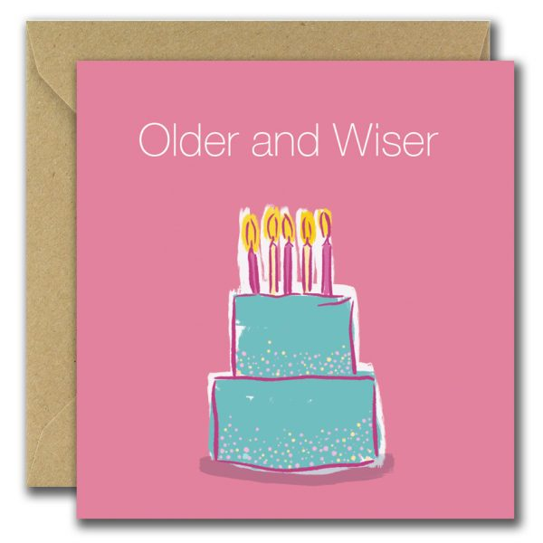 Older And Wiser birthday card