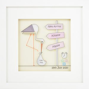 Personalised New Arrival Frame Soft Pink