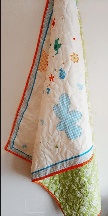 Happy Sunshine Baby Quilt - sun quilt2
