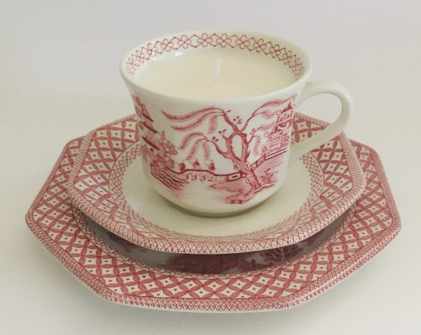 Teacup Candle - Pink Willow J&G Meakin