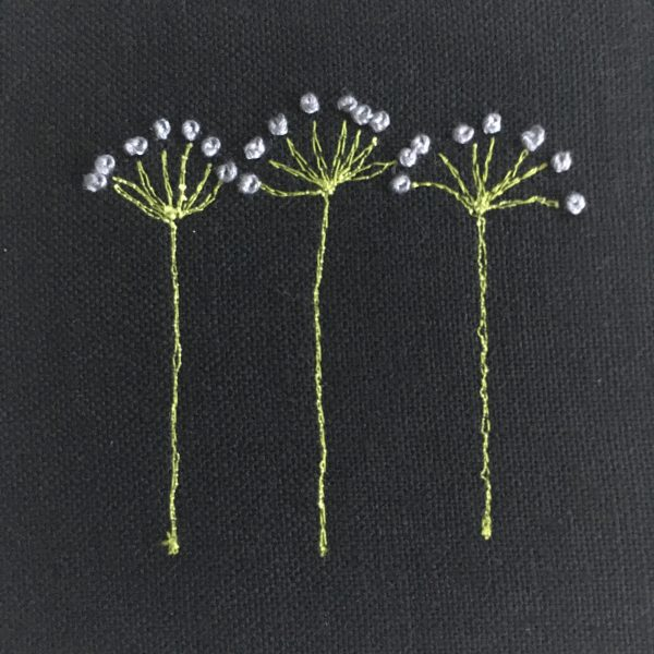 Flower Embroidery Wall Art (Black with Lilac) - 0EF2CB87 A9C0 4491 BC56 E3A60DAD24D7 rotated