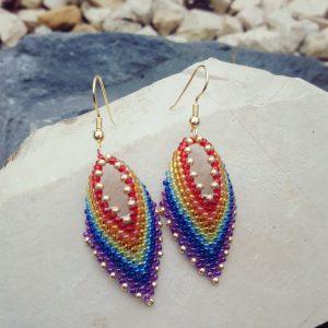 Rainbow Leaf Earrings