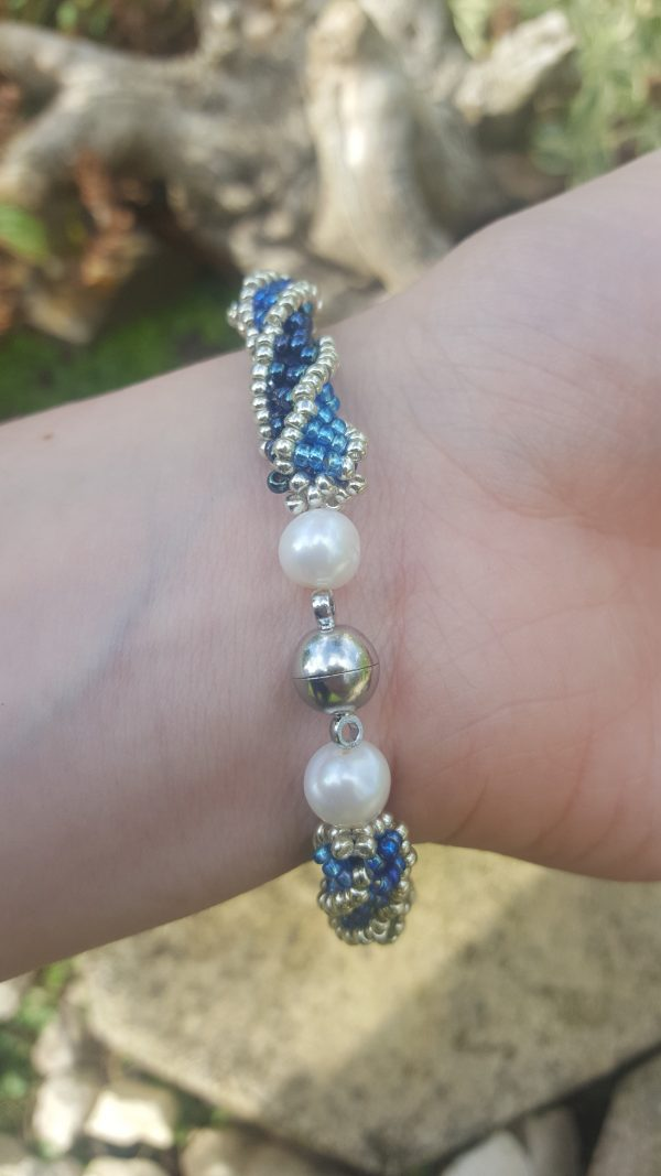 Blue Helix Bracelet - 20200928 154621 rotated