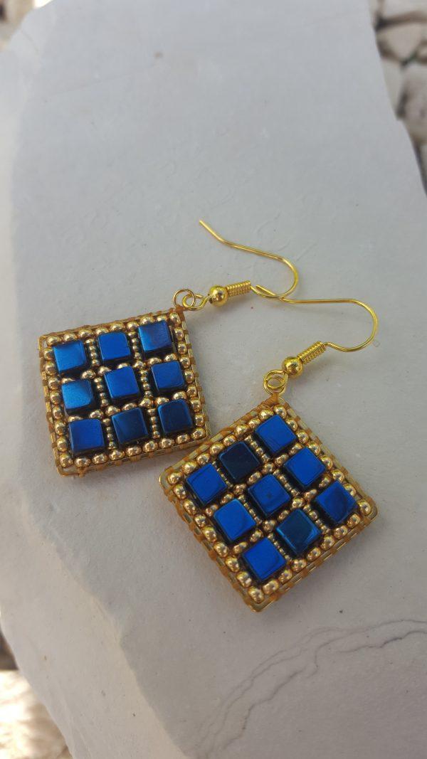 Blue Coated Haematite Earrings - 20201012 145902 rotated