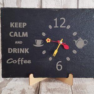 Handmade Natural Slate Clock
