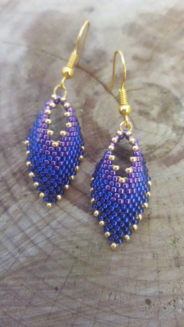 Ombre Royal Purple Earrings