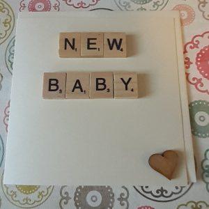 New Baby Card Heart