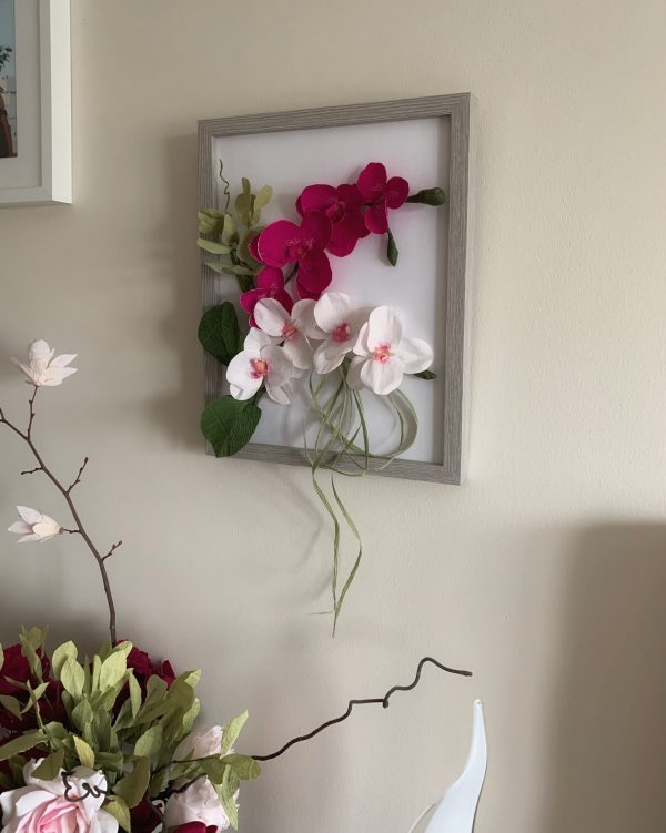 Flower Frame with Crepe Paper Orchids - 21F57D55 6575 41F3 9D96 5A0A5740D00D