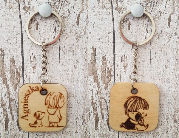 Personalised Wooden Keyring - 23