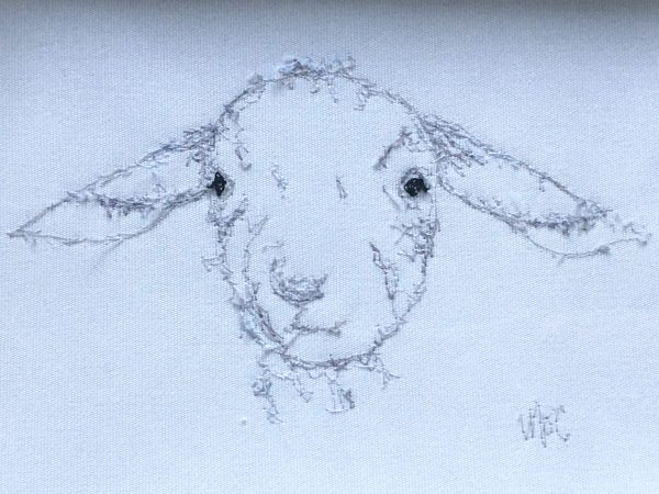 Embroidered Lamb Frame - 35C62D6A 64EE 4FFE BFF4 AD762065A34C 1 201 a 1