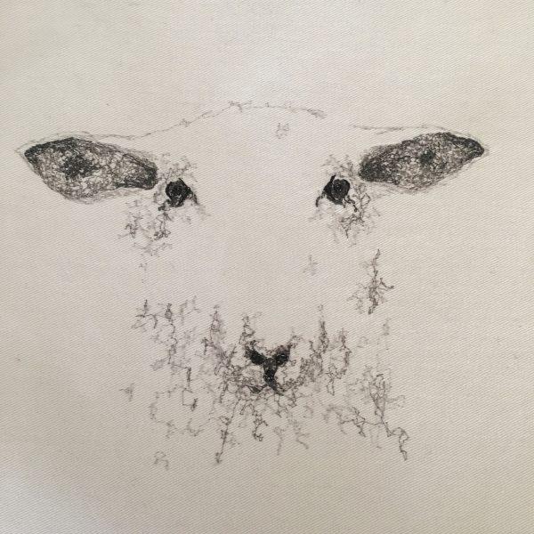 Embroidered Sheep Cushion - 3B4DE654 7101 4DE5 9F8B D1D394AB31AC 1 201 a