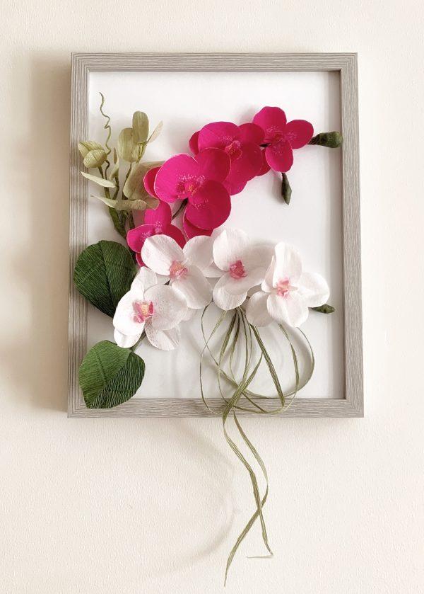 Flower Frame with Crepe Paper Orchids - 410C9D40 B735 492E 98BA 4A5452EA8658