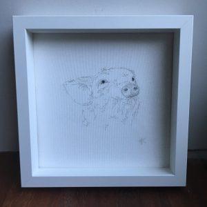 Embroidered Piglet Frame