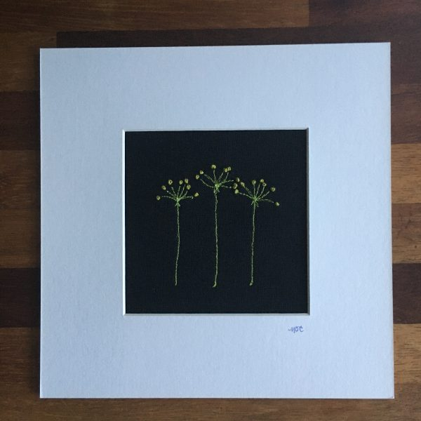 Flower Embroidery Wall Art (Black with Yellow) - 50C98187 EB48 4964 8963 DD4E48B16B47 rotated