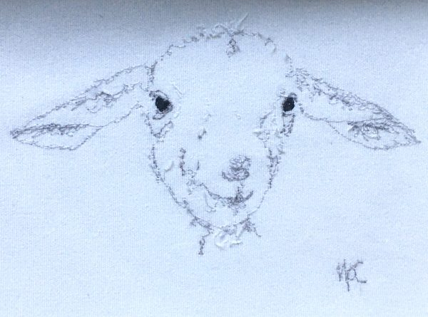 Embroidered Lamb Frame - 5BC8C9D1 241F 4895 A77C 18A9A399AD54 1 201 a 1