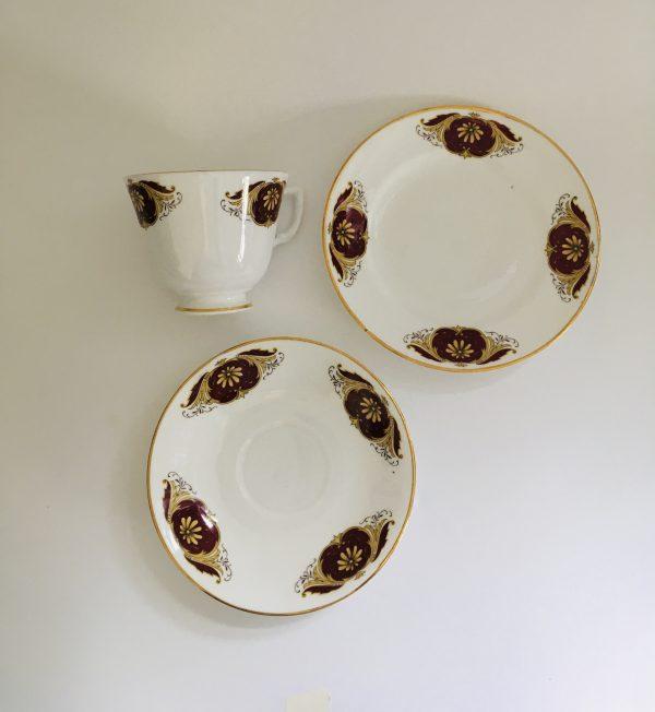 Teacup Candle - Wine and Gold Regina Fine Bone China - 647258FB D143 490D 8787 CC70B6F29B37 scaled