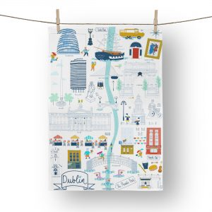 Dublin City Tea Towel