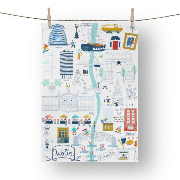 Dublin City Tea Towel