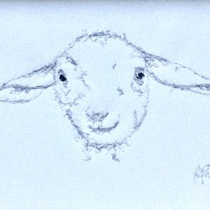 Embroidered Lamb Frame