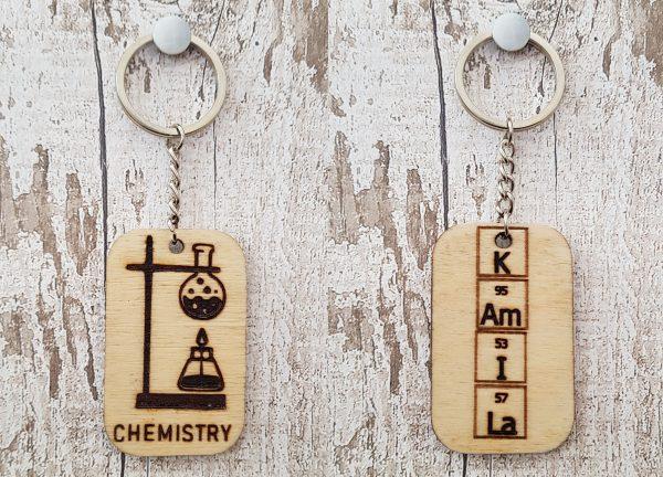 Personalised Wooden Keyring - 8