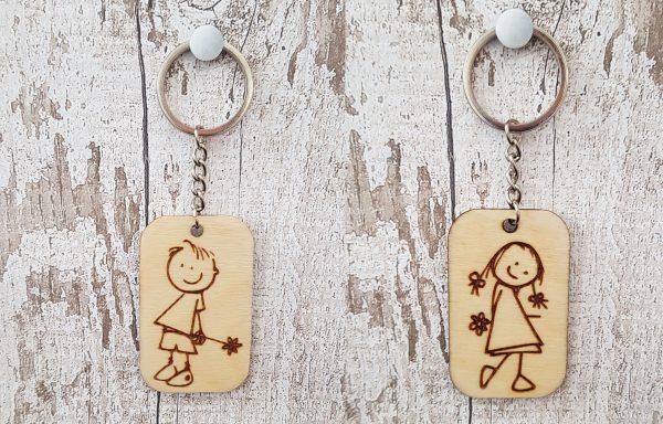Personalised Wooden Keyring - 9