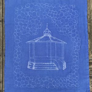 Blue Bandstand Baby Quilt