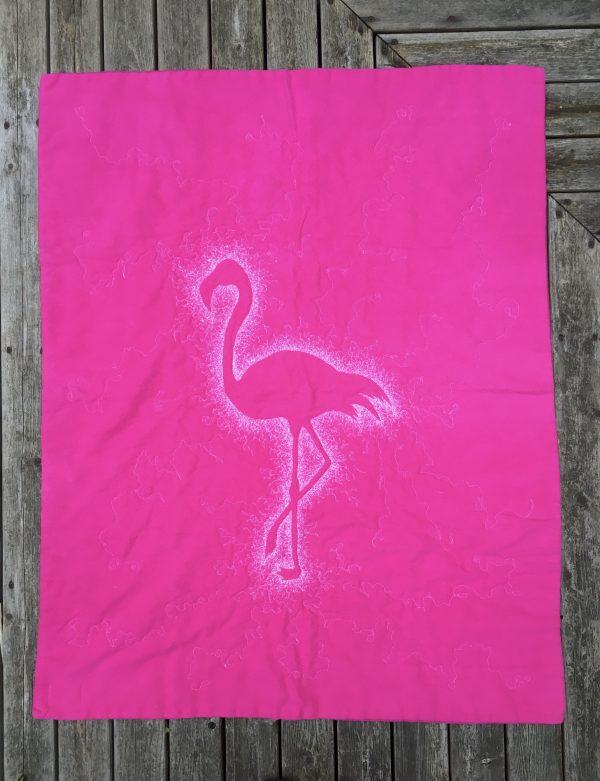 Pink Flamingo Baby Quilt / Play Mat - 92047CF2 0EAE 472E B18B 6FC9B60F9B2E 1 201 a