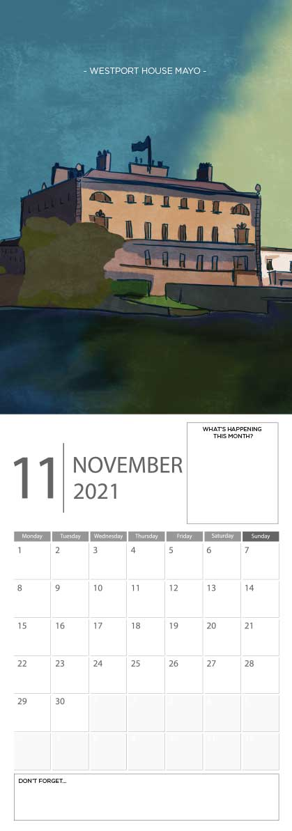 Building Ireland 2021 Calendar - A5 CAL WITH DRAWINGS 12