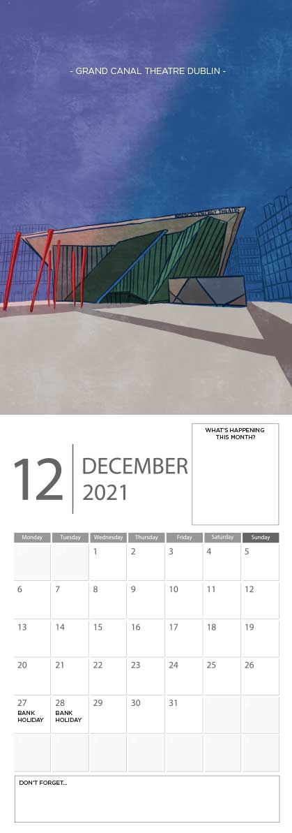 Building Ireland 2021 Calendar - A5 CAL WITH DRAWINGS 13