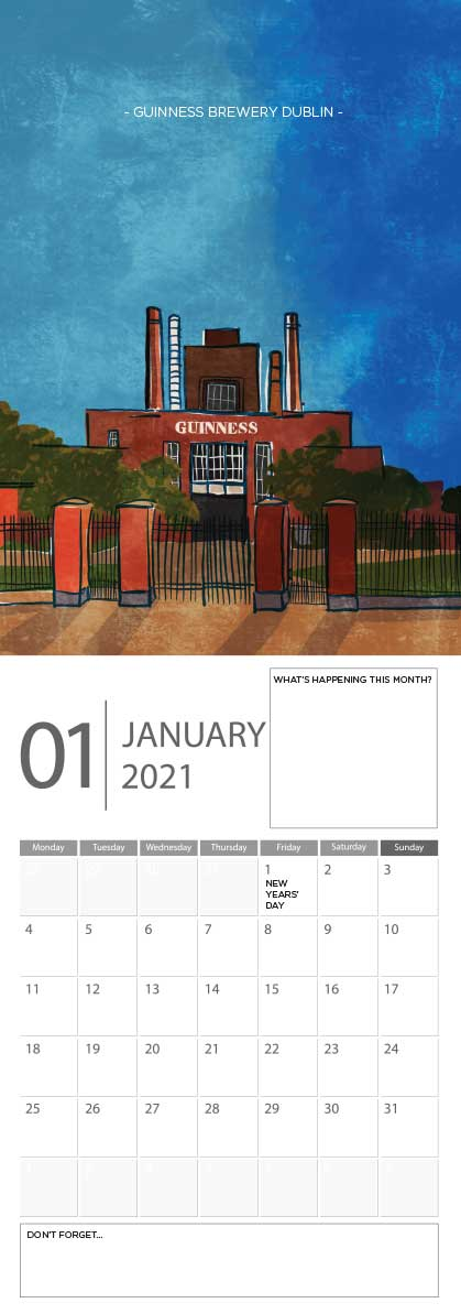 Building Ireland 2021 Calendar - A5 CAL WITH DRAWINGS 2