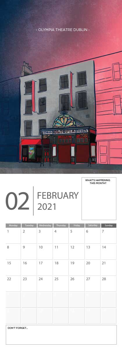 Building Ireland 2021 Calendar - A5 CAL WITH DRAWINGS 3