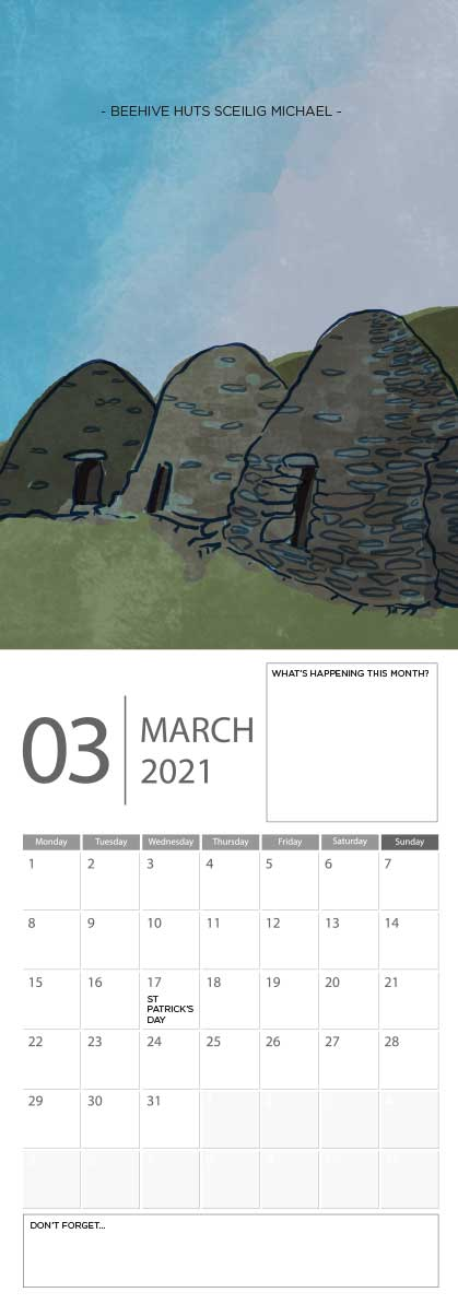Building Ireland 2021 Calendar - A5 CAL WITH DRAWINGS 4