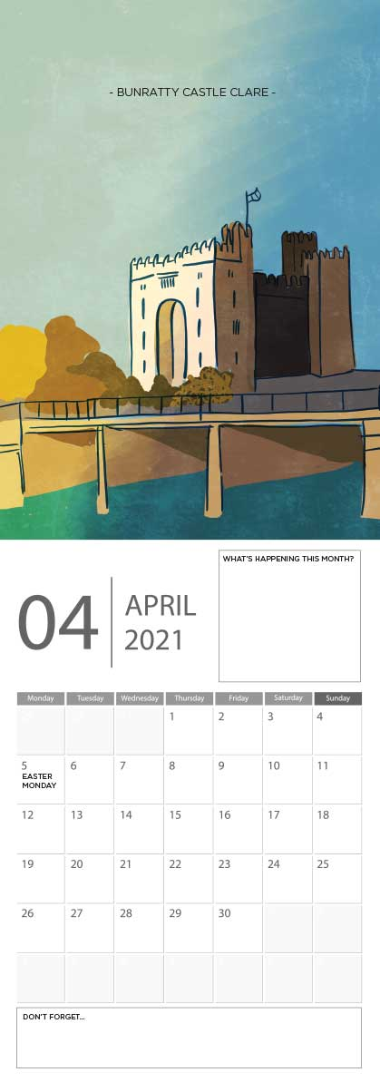 Building Ireland 2021 Calendar - A5 CAL WITH DRAWINGS 5