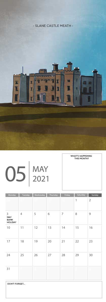 Building Ireland 2021 Calendar - A5 CAL WITH DRAWINGS 6