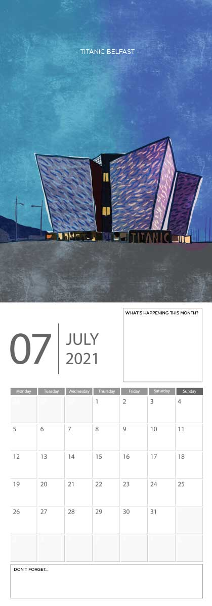 Building Ireland 2021 Calendar - A5 CAL WITH DRAWINGS 8