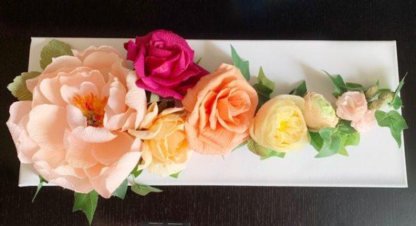 Canvas Crepe Paper Flowers Decoration - A68BCEBC 577B 45BF B3B0 EE3492089A6E