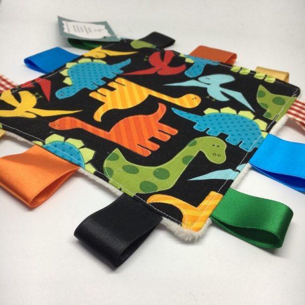Sensory Blanket Dinosaurs ( black)
