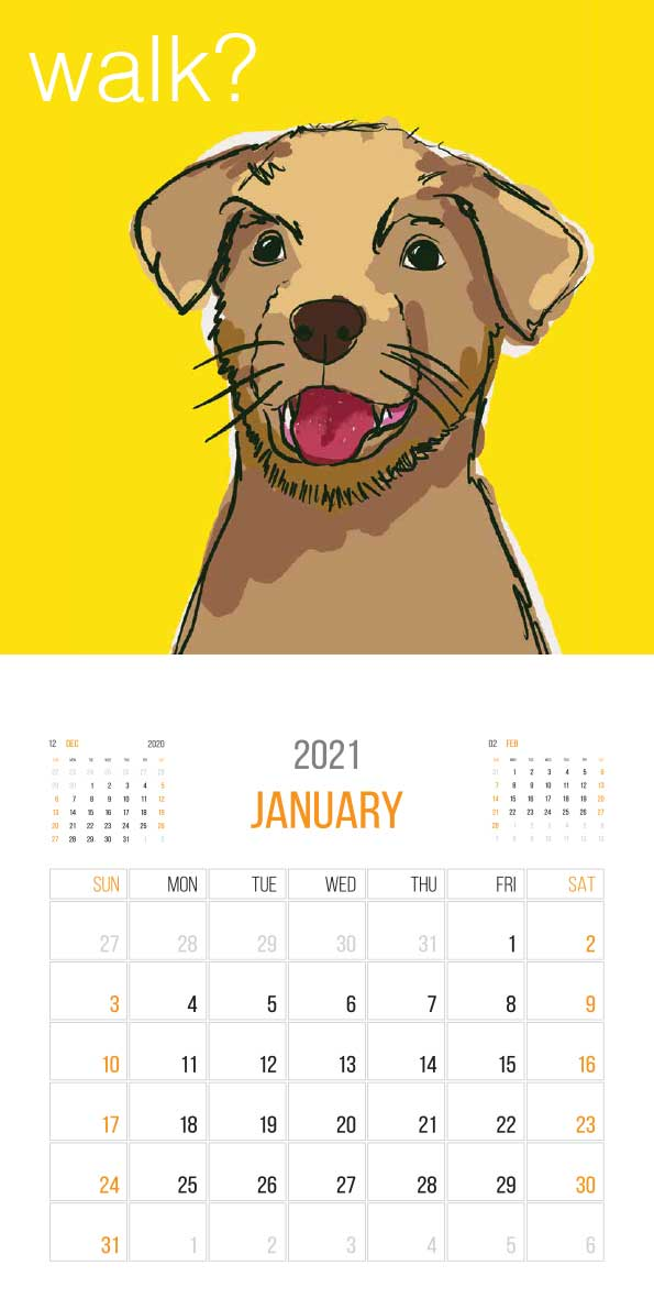 The Things Animals Think 2021 Calendar - Animals think cal jan