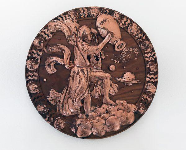 Aquarius Wood Carving - Aquarius 3